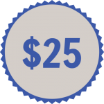 25 donation button