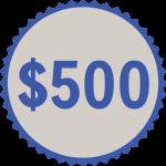 500 button donation